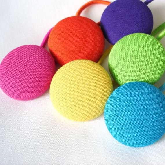 Bright Rainbow Hair Ties