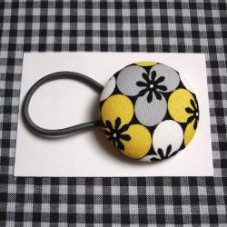 XL Ponytail Holder, Gray Black and Yellow